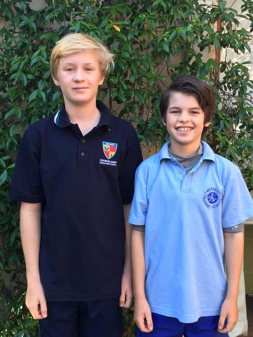 Our handsome sons Luc (12) and Remy (10) - fine boys in and out.