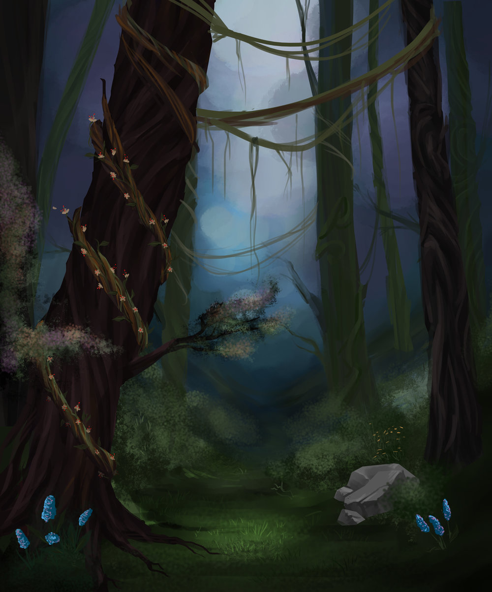 environment WIP - Designed and painted in Photoshop.