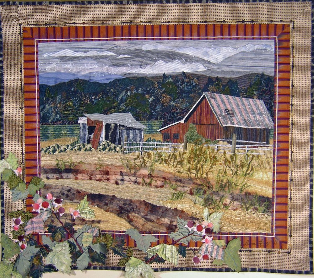 Red Barn with Salmonberries 2007