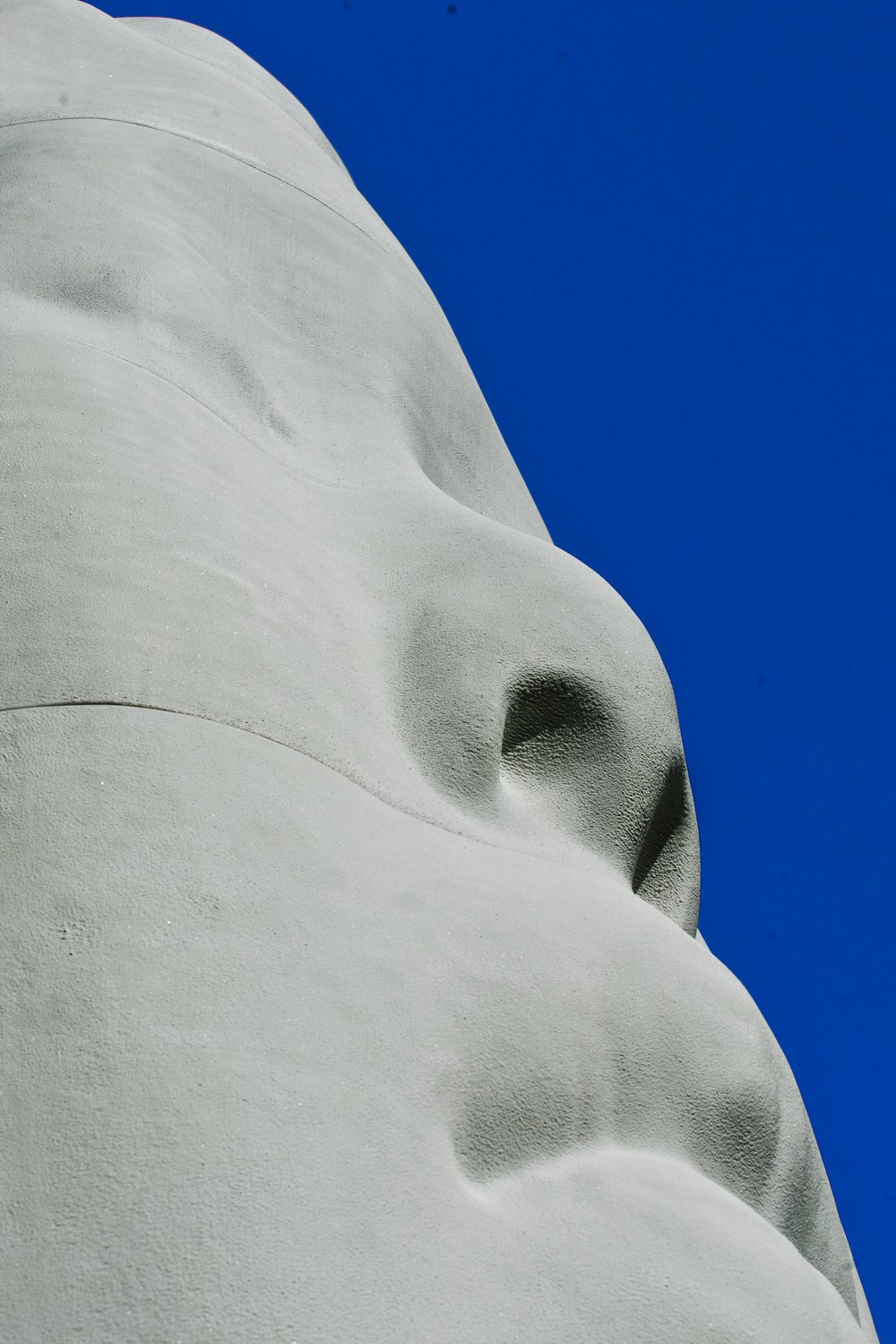 REVE   Buddha's profile on a profound blue sky