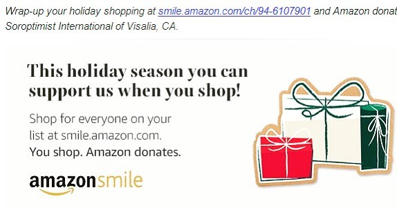 Get your last minute shopping finished and support SI Visalia! #best4women #amazonsmiles