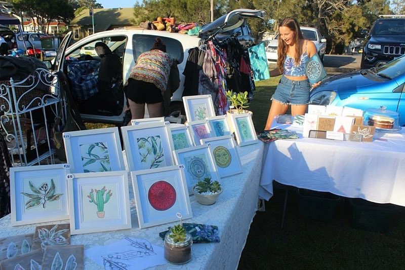 First artworks that I sold - cactus & red mandala - at the front.
