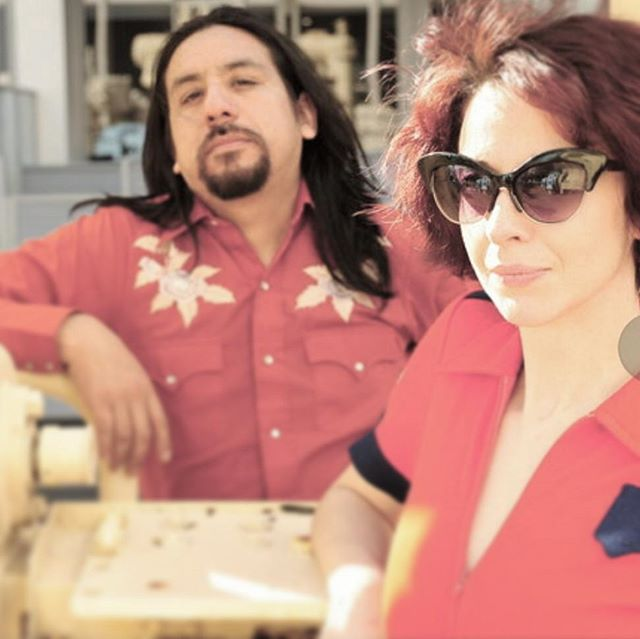 Is Fito really Machete?  #danitrejo #rocknroll #band #snapshot #attitude #love #retro #vintage #red #orange #musician #photography #bandphoto #duo