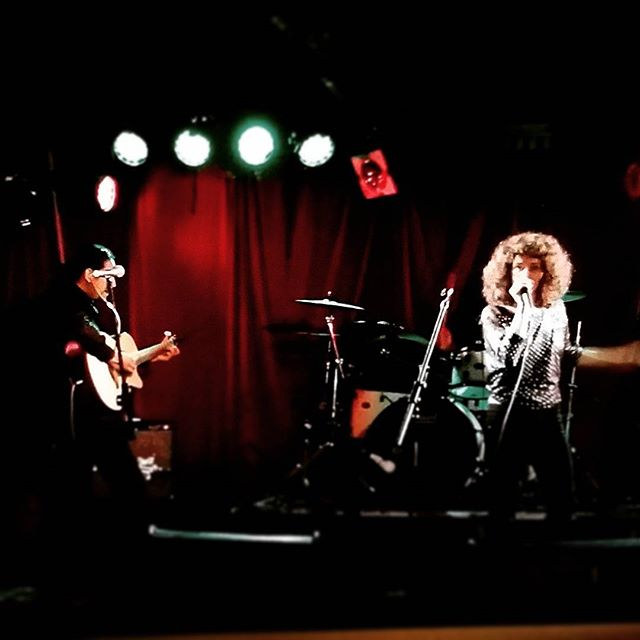 No this isn't a throwback pic from the 80's .. its a few years ago @ The Annandale Hotel ... you can check us out minus the big hair at Jamberoo Pub 1st Dec !!!! #live #music #rock #retro #bighair #stage #showtime #party #annandalehotel #jamberoopub #loud #fun #retro #jam #love #disco #throwback