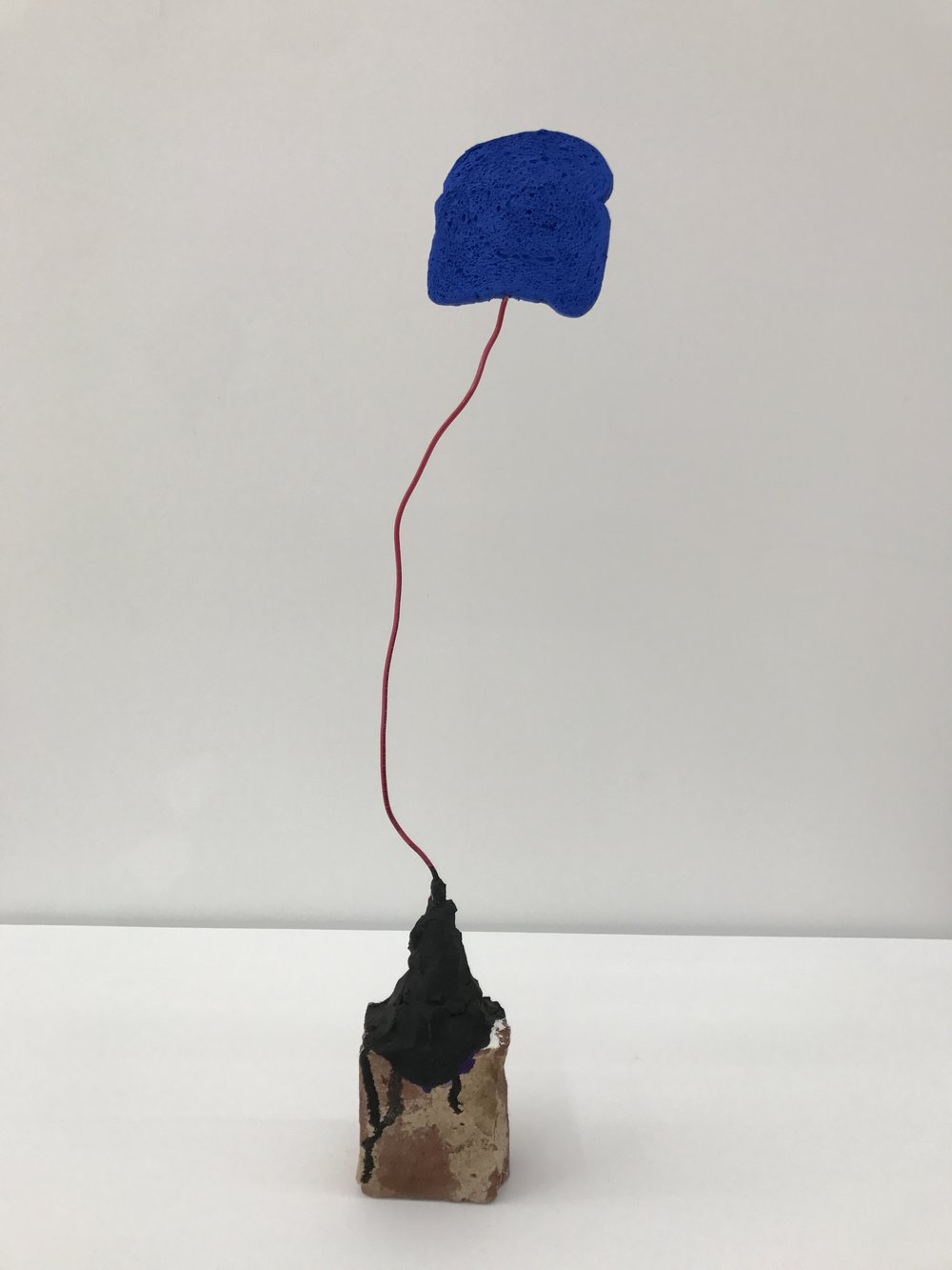 Michelle Segre, Driftloaf (Blue with Red Wire and Half Brick), 2016