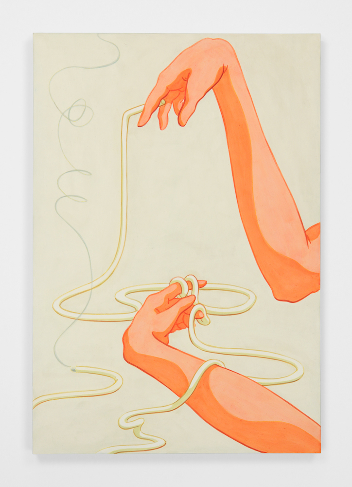 Ivy Haldeman,  Long Cigarette, Two Loops Over Index Finger,  2018