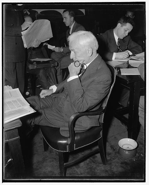 Secretary of State Cordell Hull testifying Before Congress in 1939