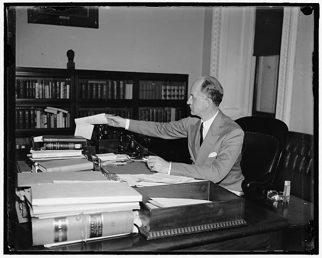 Undersecretary of State Sumner Welles in his office in 1937