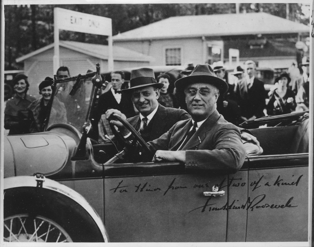 FDR and Morgenthau, Jr at Warm Springs, Georgia 1933