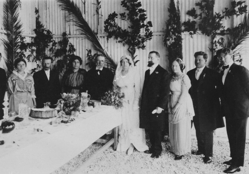 Sarah's wedding, 1914