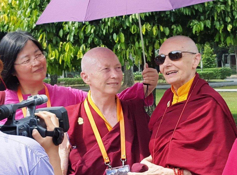 SI participant -Christie, Karma  Lekshe & Tenzin Palmo linda.jpg