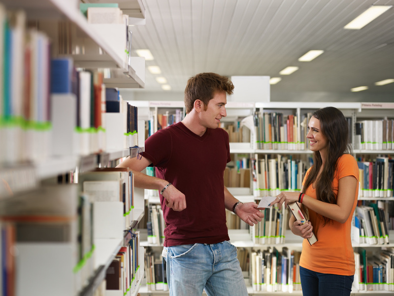 "This is a  stock photo . Neither of these people go to Tech. If you do see them in the library, feel free to shout ""You don't even go there!"" as loudly as possible at them."
