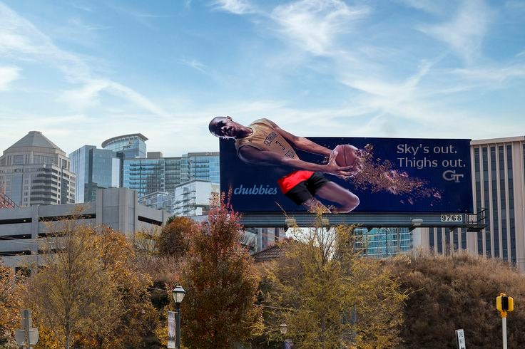 Chubbies has already begun putting advertisements up around the city to get Tech fans hyped about the new partnership.