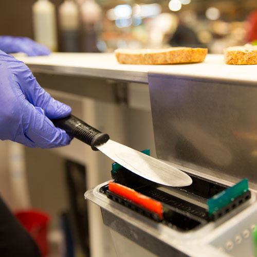 Image of Sani Station cleaned utensil
