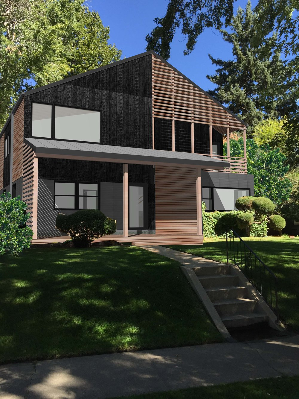 This project is a 2nd story pop-top + addition on single story 1950's era brick ranch house located in the Highlands neighborhood of Denver, Colorado.  We anticipate breaking ground spring 2017.