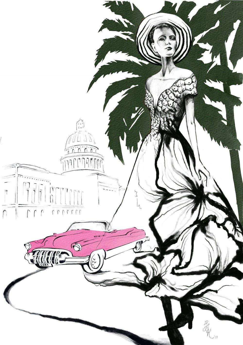 Dior Dress with Pink Car.jpg