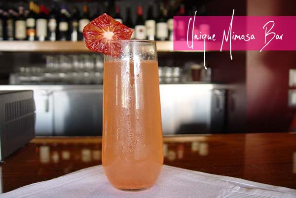 mimosa, blood orange, unique, brunch, cocktails