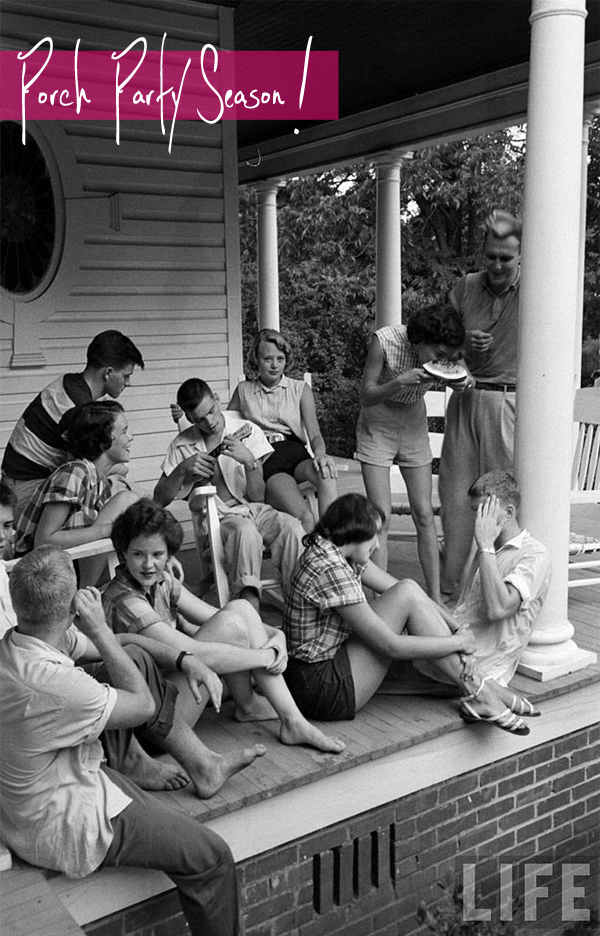 porch party, music, playlist, summertime, spring, oldies, 40s, 50s