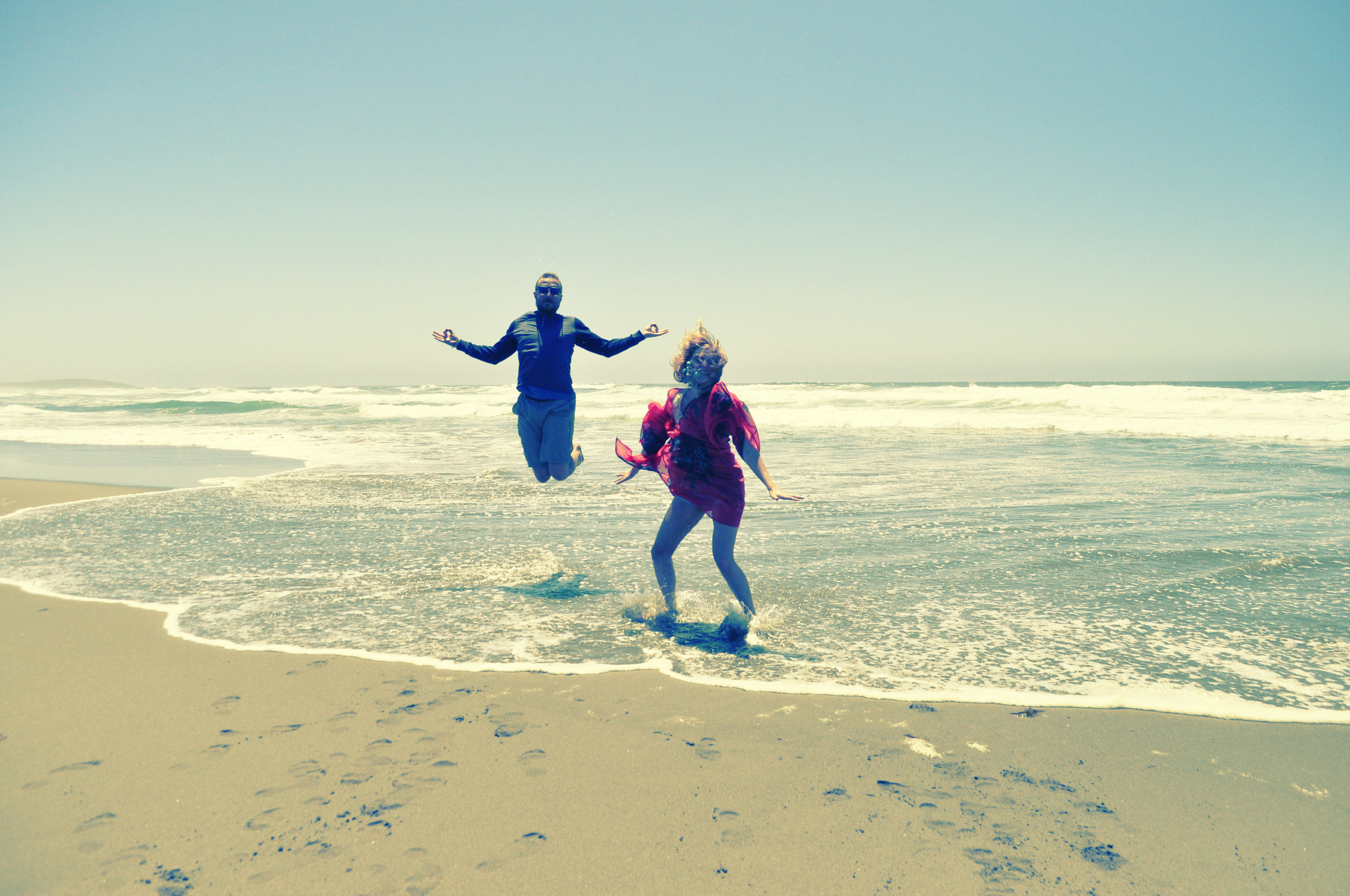 bodega bay, shore, jump