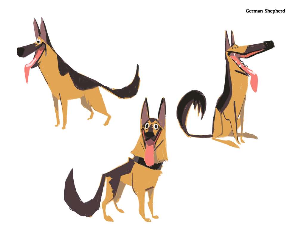 German Shepherd Color Sketches.png