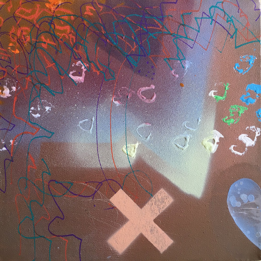 "Circadian Rhythm 10""x 10"" mixed media on canvas"