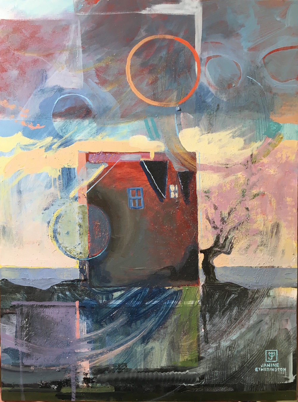 "Stillpoint 16""x20"" acrylic on canvas"