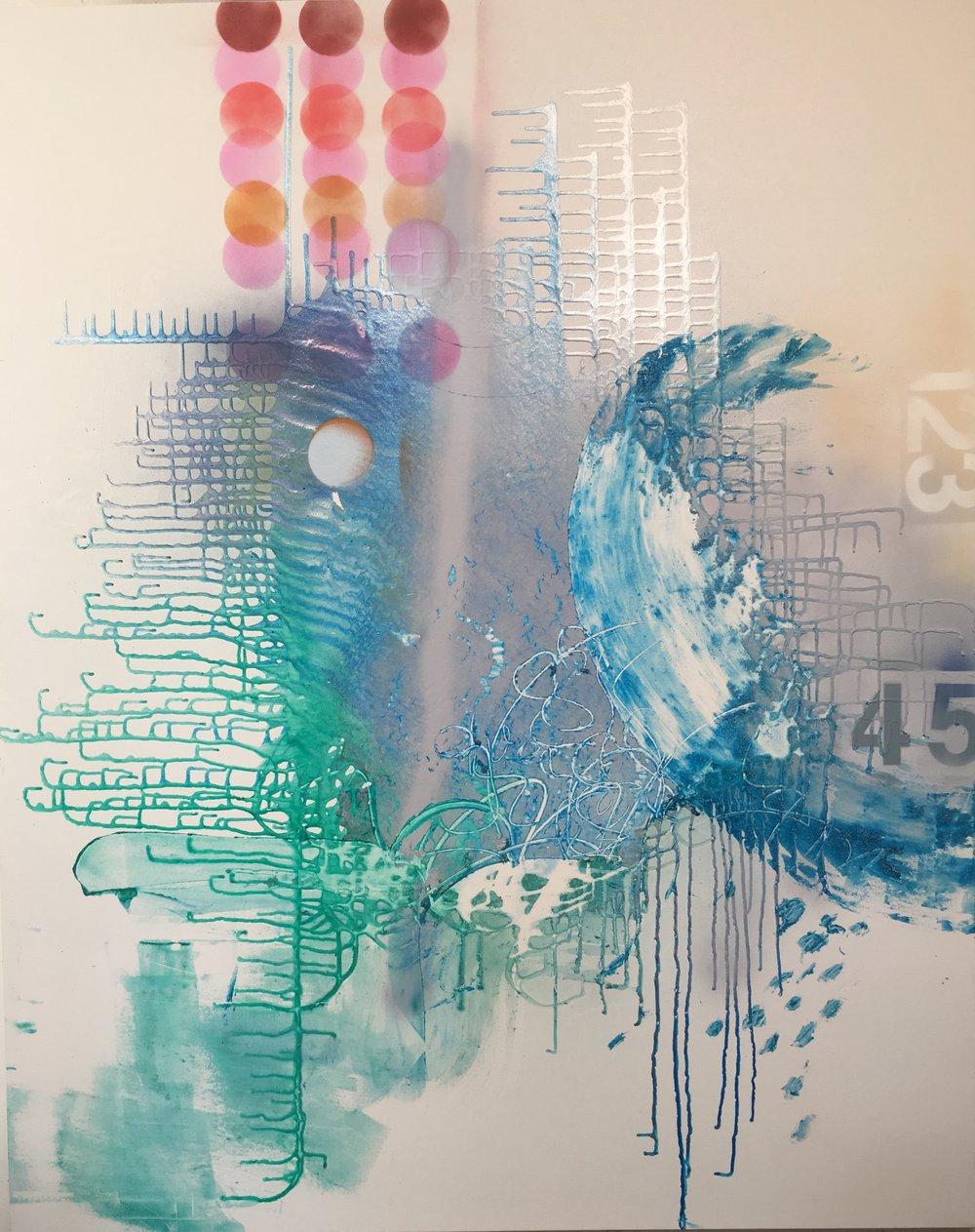 """Luscious Leap 48""""x60"""" acrylic on canvas"""