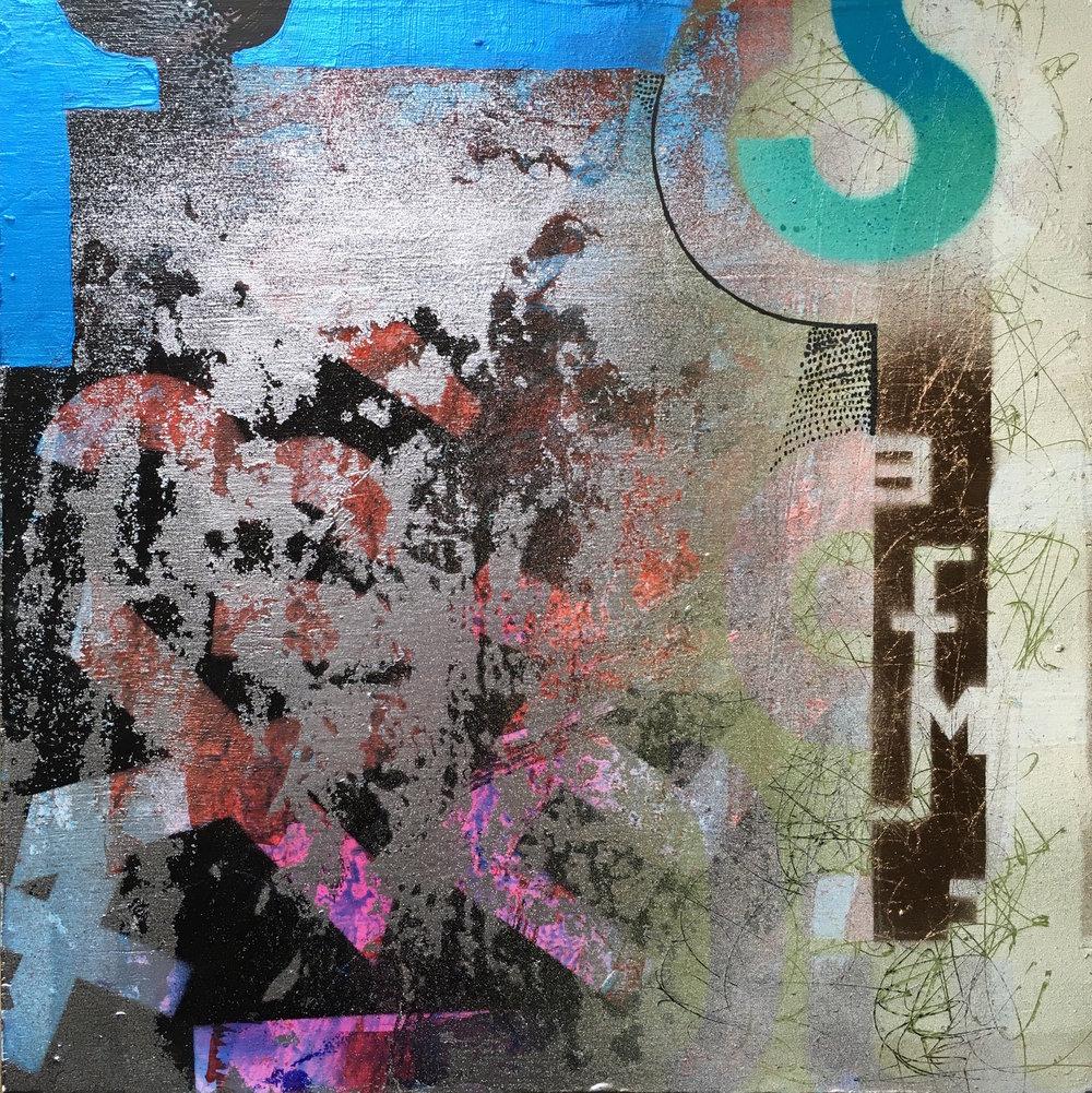 "Late night groove 12""x12"" acrylic on panel"