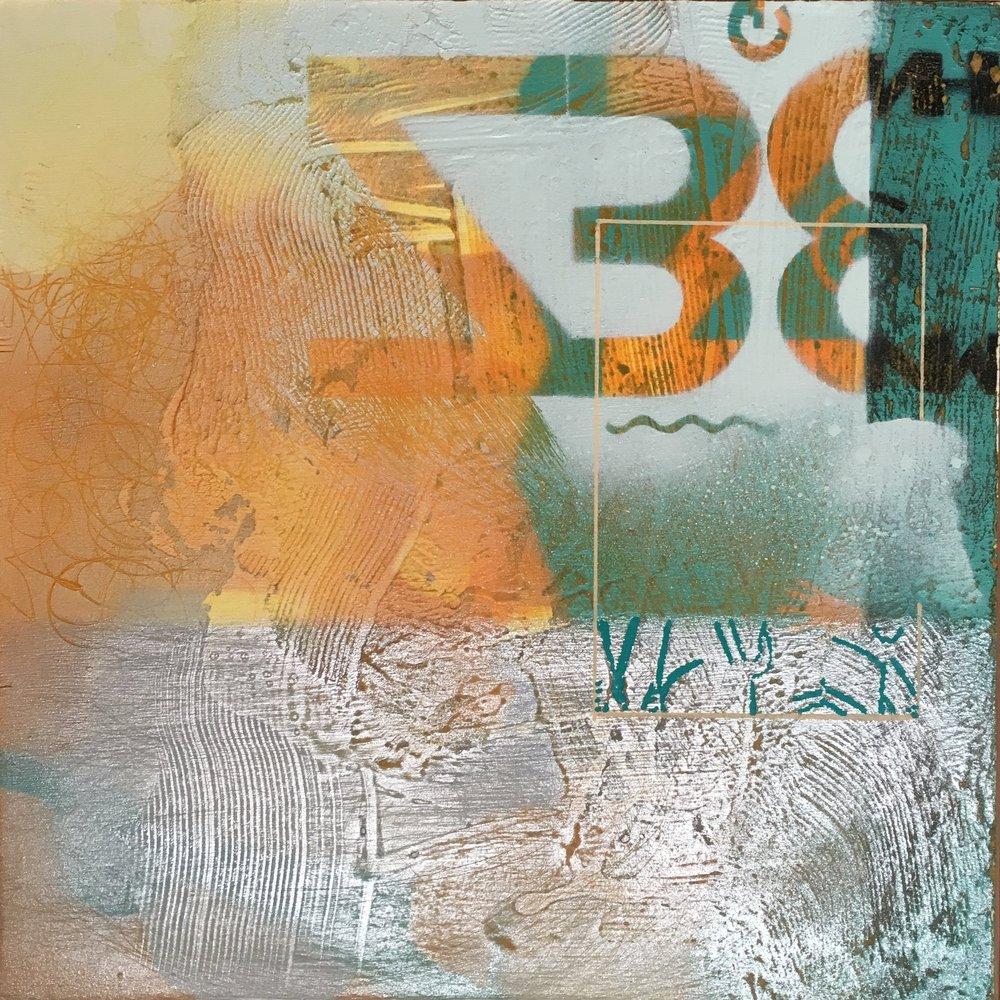 """Wakonda 12""""x12"""" acrylic on wood panel"""