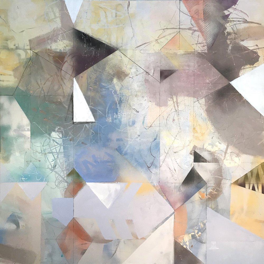 """Glass Ceilings 48"""" x 48"""" acrylic on canvas"""