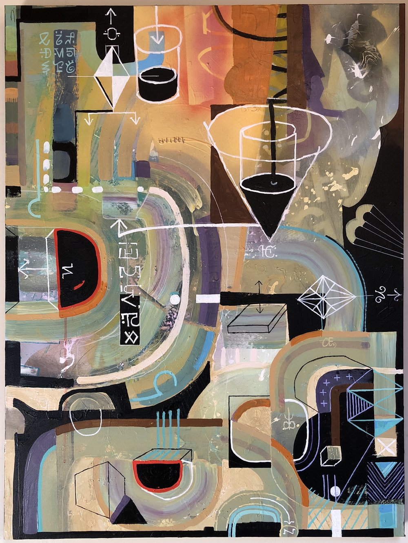 "An Explanation 40"" x 30"" acrylic on canvas | sold"