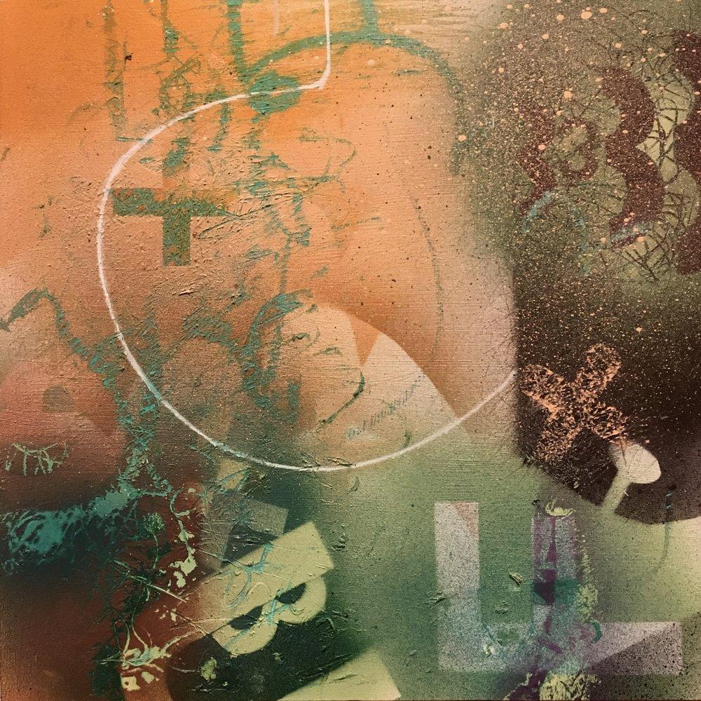"Stardust 12""x 12"" acrylic on wood panel | SOLD"
