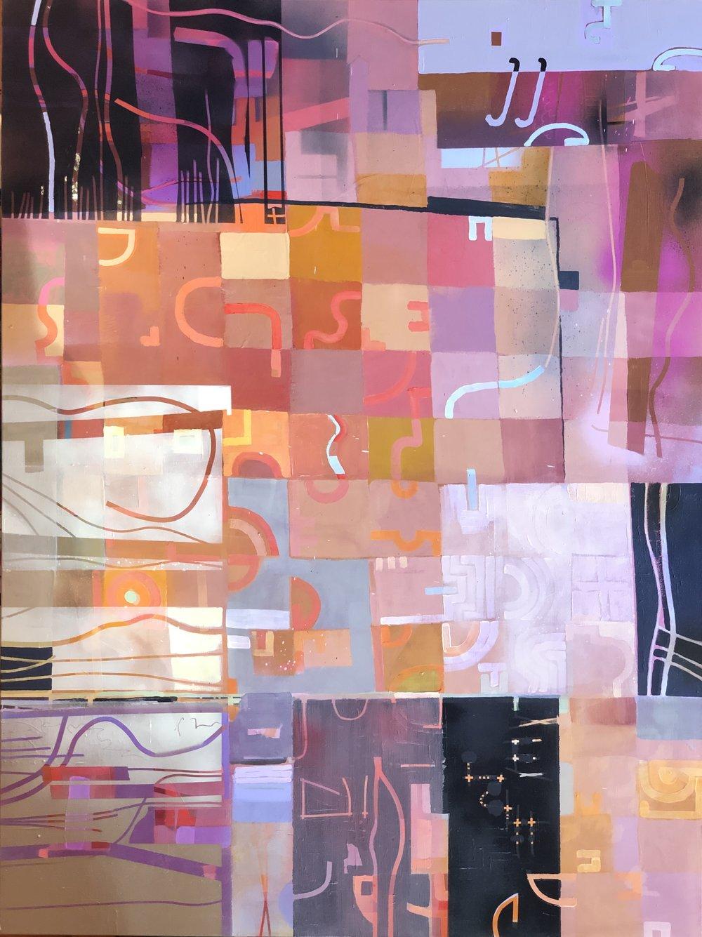 "Fragranza I  48""x 36"" acrylic on canvas"
