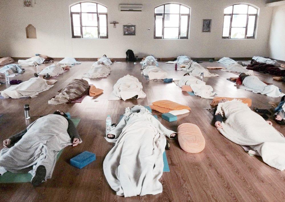 Yoga Class Akhanda YOga Michelle and Paul Macnamara Savita Mridul.jpg