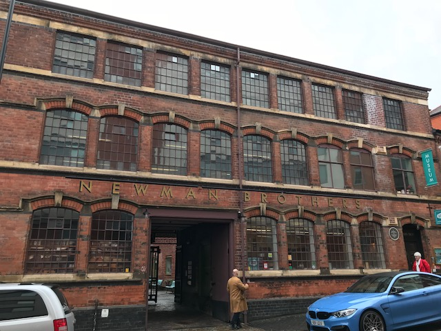 Exterior of the original Newman Brothers factory building on Fleet Street in Birmingham.