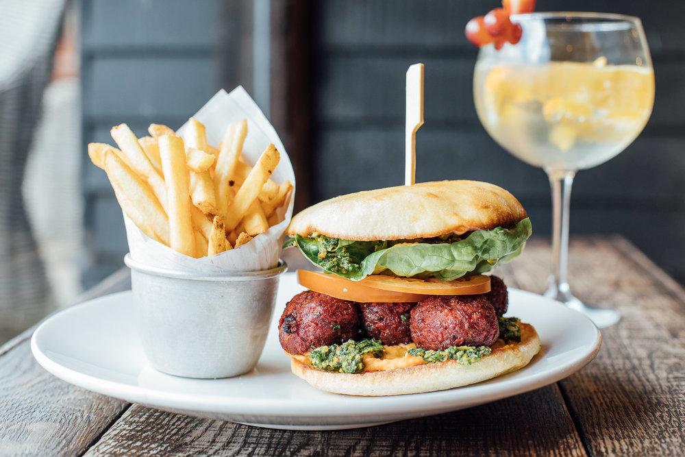 Beetroot Falafel Burger from the Vegan Menu.jpg