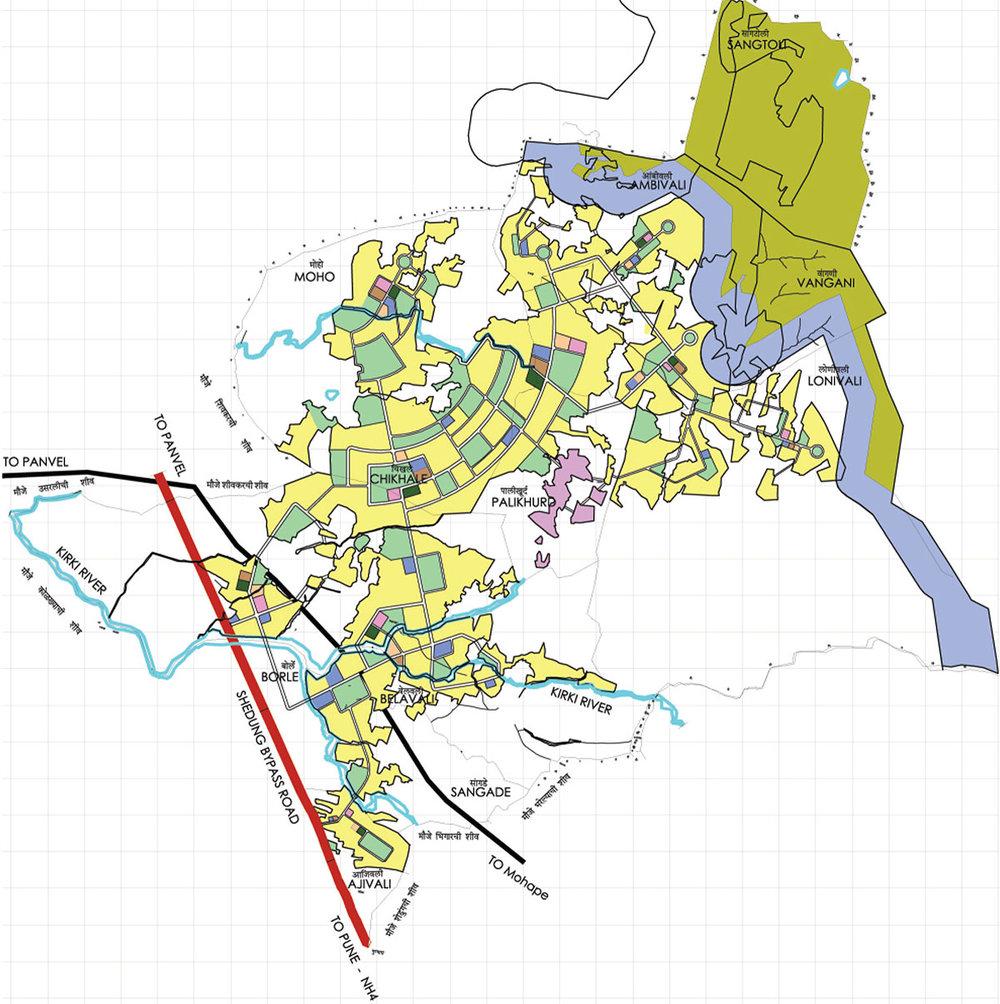 Township at Ajivali, Sangade, Belavali Chikale, Vangani, Moho,Lonivali, Pali Khurd, Ambivali, Santoli near Panvel. 1770 Acres.