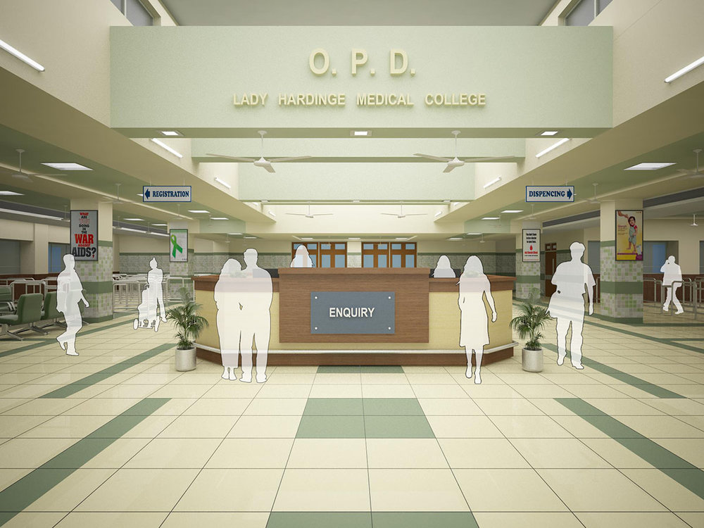 OPD reception and waiting area