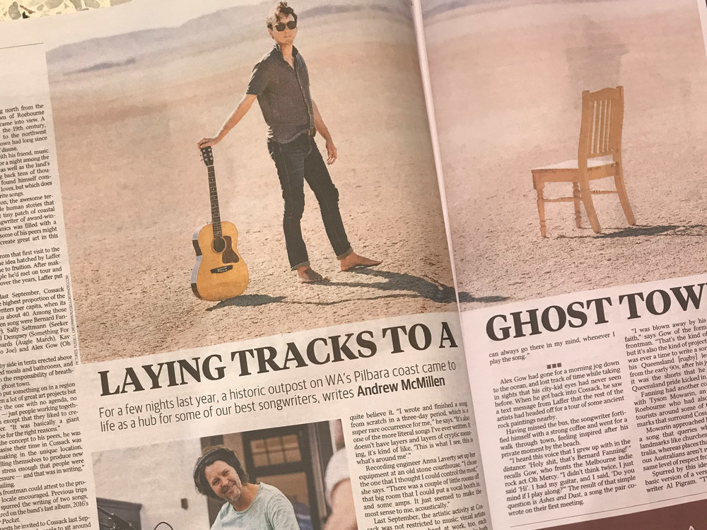 Laying Tracks to a Ghost Town - Thanks to The Australian for their great spread on all things Vast The Album