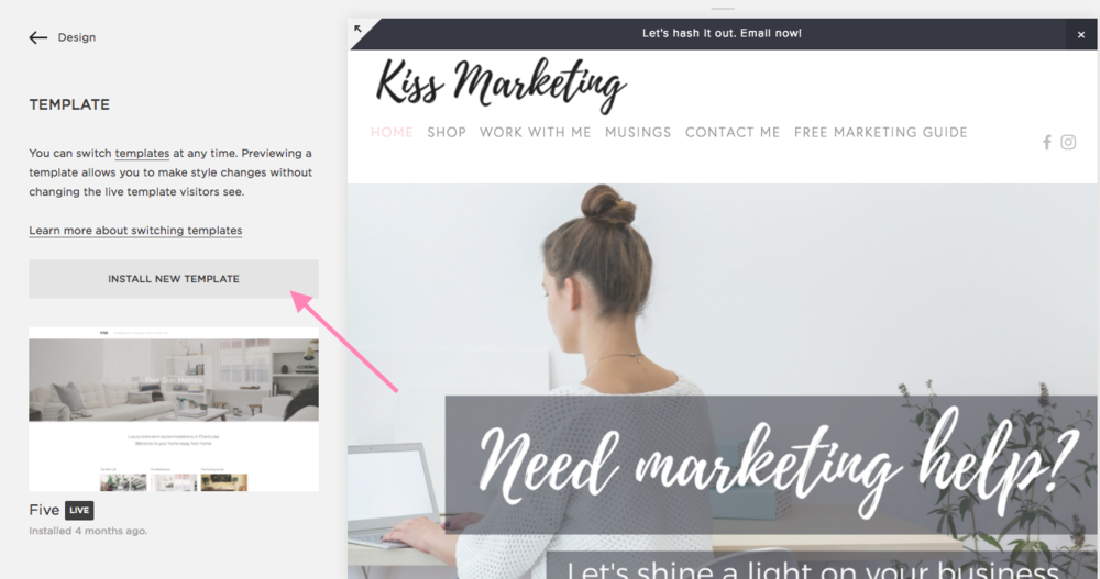 How to build a website on Squarespace