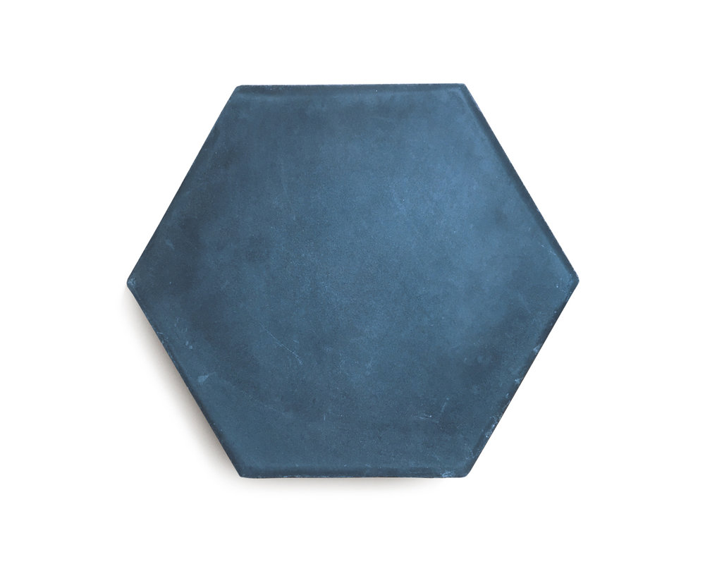 PLAIN HEXAGON; ARROW (IN STOCK) Midnight/Bone | R70/tile or R1100/box