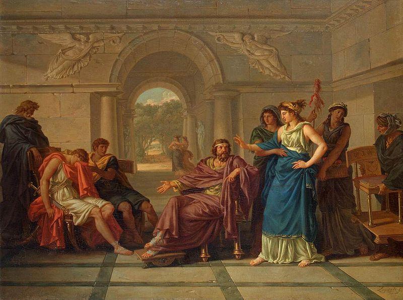 Helen Recognising Telemachus, Son of Odysseus - Jean-Jacques Lagrenée (1739–1821) - PD-art-100