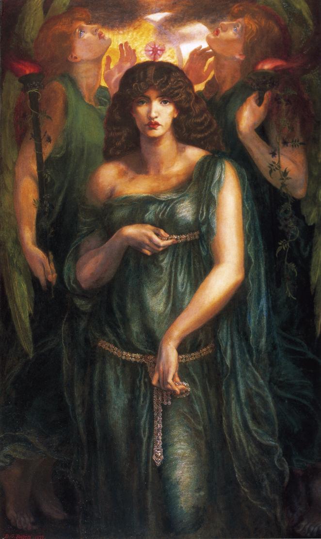 Art by Dante Gabriel Rosetti, 1877