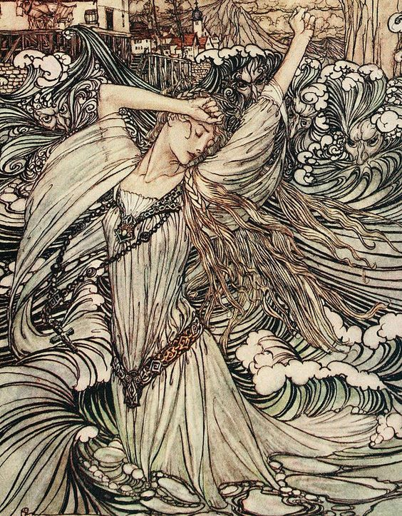 Art by Arthur Rackham (1909 version)
