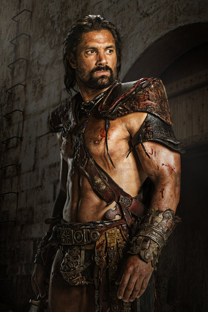 Manu Bennett in Spartacus: Blood and Sand (2010), photo source Imdb,