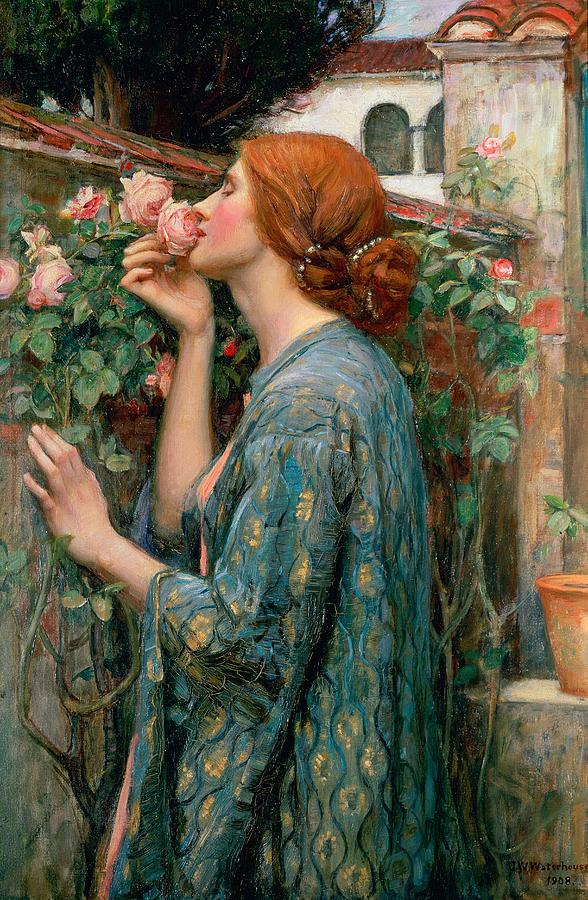 Art by John William Waterhouse / The Soul of the Rose