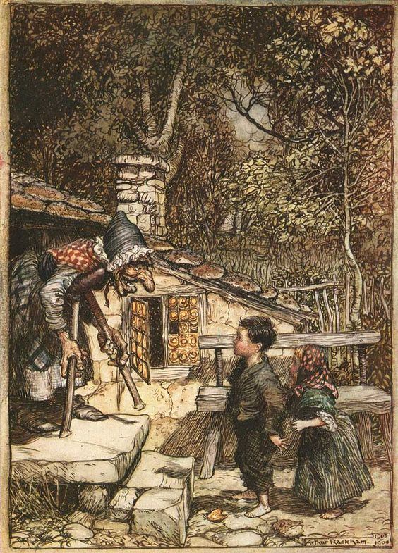 The Brothers Grimm Fairytales. Hansel and Gretel. Arthur Rackham