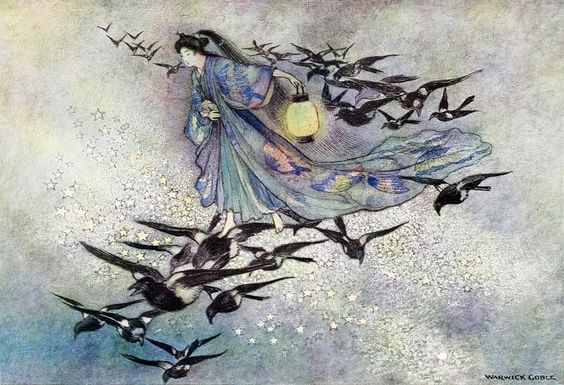 Green Willow and other Japanese fairy tales, 1910 by Warwick Goble (English, 1862–1943)