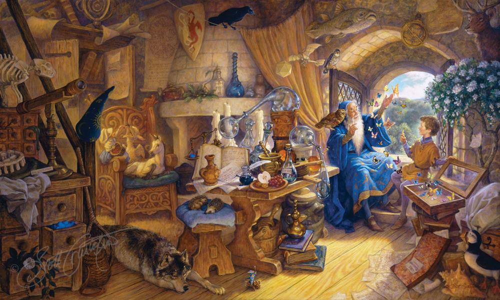 Merlin and Arthur - Scott Gustafson
