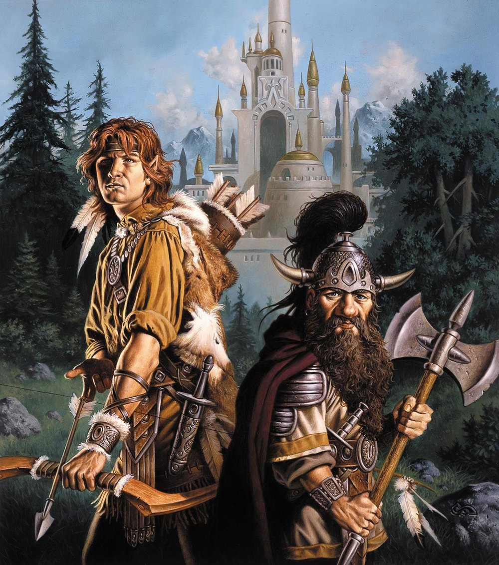 Tanis Half-Elven and Flint Firegorge by Clyde Caldwell